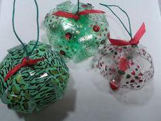 ▶ Reciclado : Con botella plasticas realizamos adornos navideños // Recycled /Christmas ornaments/ - YouTube
