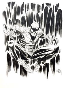 Spider-Man by Chris Mooneyham - HeroesCon 2017 commission