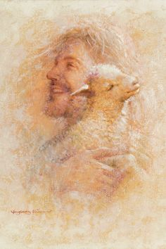 little lamb by yongsung kim jesus christ holding a lamb on his shoulder jesus smiling lamb closed eyes yellow textured background Paintings Of Christ, Jesus Christ Painting, Art Paintings, Pictures Of Jesus Christ, Jesus Christ Images, Jesus Smiling, Jesus Lamb, Quotes Arabic, Pointillism