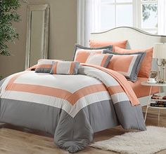 Lord 10-Piece Bed in a Bag Comforter Set, Brushed Microfiber, Queen, Peach; Shams, Decorative Pillows and Sheet Set Included Perfect Home http://www.amazon.com/dp/B00O92UO4C/ref=cm_sw_r_pi_dp_YEx6ub1SHWX0Q