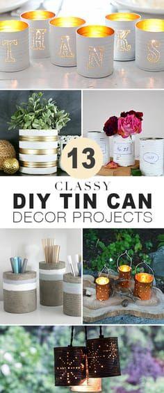 13 Classy DIY Tin Ca