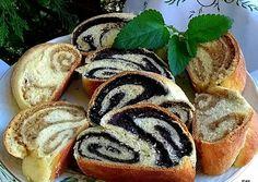 Useful articles and recipes: Zala ruffled poppy-walnut strudel Hungarian Recipes, Hungarian Food, Strudel, Hot Dog Buns, Sushi, Favorite Recipes, Sweets, Bread, Meals