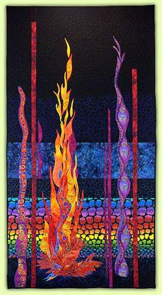 """Column of Fire 33""""x63"""" SOLD Pat Dolan - Artist: Recent Work"""