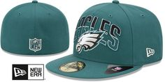Eagles NFL 2013 DRAFT Green 59FIFTY Fitted Hat by New Era on hatland.com