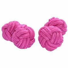 Vibrant Pink Silk Knot Cufflinks Cuffs & Co. $4.99. Stretchy silk, simple to attach to shirt. Silk knots, 11mm diameter. Buy 3 or more pairs to get free delivery. Packaged in a protective rigid nylon case. A range of over 200 colours and designs