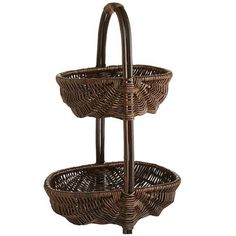 Dharma 2-Tier Willow Basket