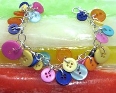 Jewelry Bracelet Charm Colorful Buttons Summer by LovesParisStudio, $30.00