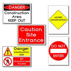 Construction Site Role Play Signs