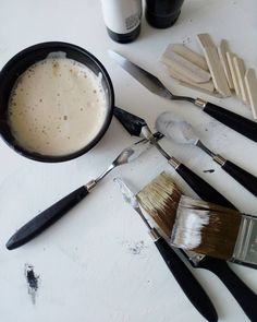 Two things that I love. Coffee and art. Paint Tubes, Black Art, Coffee, Wood, Tableware, Photography, Painting, Instagram, Design