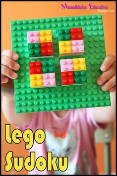 Sudoku Learning Activities with Lego Lego Activities, Math Resources, Math Games, Lego Games, Educational Activities, Lego Math, Lego Duplo, Stem For Kids, Math For Kids