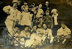 Unknown group of clowns. These clowns may have performed in the following circuses: Al Barnes' Circus, John Robinson's Circus, or Sells-Floto Circus.