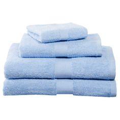 Light Blue Four-Piece Cotton Towel Set  $19.95