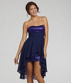Hailey Logan Sequin HiLow Dress. meee wantssss #Dillards