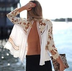 Lovely lace backless Fashion