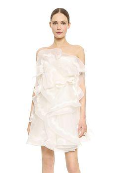 Strapless Short Mini Dress by Reem Acra | Brides.com