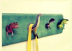Creative Dinosaur Coat Hooks | 10 Toddler Hacks Part 2 - Tinyme Blog