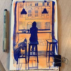 Maddy Witt @mwittart urbansketchers artwork sketch