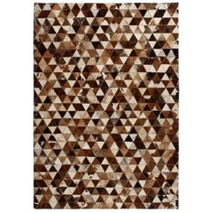 Union Rustic Rug Genuine Leather Patchwork Cm Triangle Brown/White Union Rustic Rug Size: Rectangle 80 x Patchwork Rugs, Patchwork Designs, Neutral Color Scheme, Color Schemes, Diy Carpet, Rugs On Carpet, Small Mats, Soft Flooring, Rustic Rugs