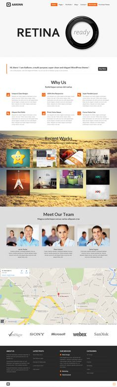 AaRonn - Retina Ready Theme on Behance