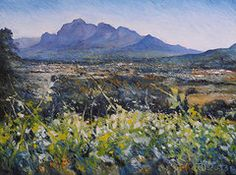 Enver Larney - Simonsberg Cape Town... Cape Town South Africa, Framed Prints, Canvas Prints, Impressionist, Fine Art America, Oil On Canvas, Around The Worlds, Artwork, Poster