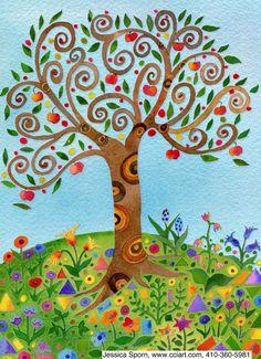 Tree Of Life Artwork, Tree Of Life Painting, Tree Art, Zentangle, Tree Illustration, Diy Canvas Art, Naive Art, Whimsical Art, Quilling