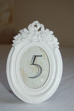Vintage style table number frame for hire