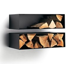 These indoor firewood storage ideas will help you pick the perfect rack for your firewood, keeping your home beautiful without leaving you broke. Log Store Indoor, Indoor Log Storage, Home Fireplace, Modern Fireplace, Drum Craft, Firewood Storage, Living Room Storage, Lake Cottage, Wood Burner