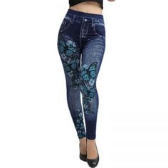 Cheap leggings autumn, Buy Quality printed jeggings directly from China jeans leggings Suppliers: Weljuber Women Leggings Autumn Jeans Leggings Slim Mock Pocket Woman Print Jeggings Ladies Denim Skinny Trousers Jeggings, Legging Jeans, Jeans Pants, Yoga Pants, Trousers, Girls In Leggings, Women's Leggings, Legging Plus Size, Women's Fashion Leggings