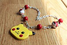 Kawaii Pikachu  Polymer Clay Necklace by HappyHuskyy on Etsy, $25.00