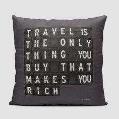 Travel is - Flight Board - Throw Pillow
