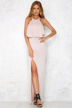 HelloMolly | Glitz And Glamour Maxi Dress Blush