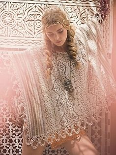 A white lace poncho.  This is giving me ideas
