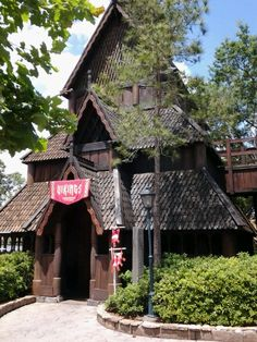Norway, Epcot. Love the house structure.