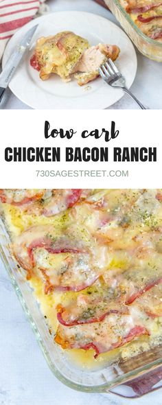 Easy chicken bacon ranch dinner recipe. #lowcarb #keto #dinner #easy #chicken