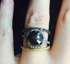 Black diamond candy ring. This one was just sent off to a very special lady but we can find a special diamond and make one just for you.