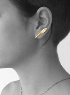 """otto"" little earrings by Maria Solorzano, brass. on sale"