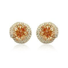 Golden topaz and diamond Ocean Drop stud earrings