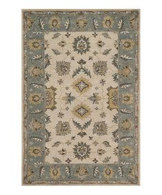Brown & Blue Fairfield Wool Rug #zulily #zulilyfinds