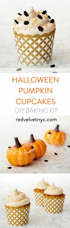 BOO! Halloween food ideas for kids. Make these easy Halloween cupcakes for party. The perfect Halloween treats are those that are creepy and fun. Our Baking kit comes with an easy-to-follow recipe card and all the ingredients you need. Receive 15% off your first box with code PINTEREST15 !