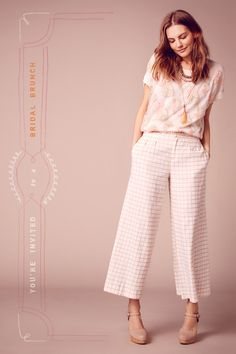 Styling idea for the Girl Friday Culottes: windowpane fabric!