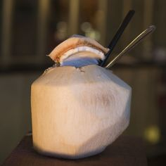 Recipe for Caña Rum Bar's Rum & Coconut Water #cocktail
