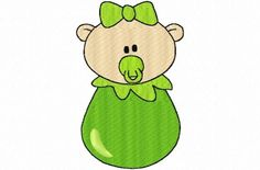 Baby Peas in a Pod Embroidery Machine Design Patterns