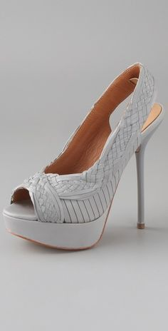 Perfect for a sweet summer dress. L.A.M.B. open toe platform pumps (those 4 little words never fail to get my attention.)