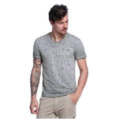 Camiseta Masculina Decote V - Damyller