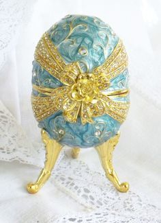 Vintage Music Box Faberge Egg