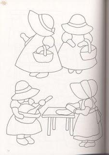 Coisinhas de Pano: Boneca sunbonnet