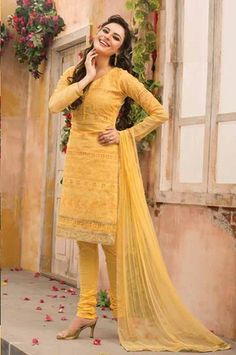 Yellow Color Payal Collection Salwar Suit.