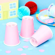 How to Throw the Ultimate Peppa Pig Party Third Birthday, 3rd Birthday Parties, Birthday Ideas, Birthday Cards, Party Cups, Party Party, Peppa Halloween, Peppa Pig Party Games, Pink Parties