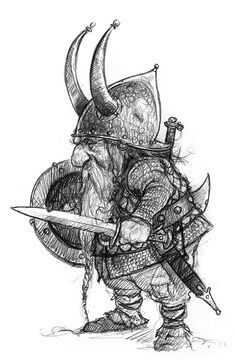 This Dwarf Sketch may not have been done for animation, but I would love to animate him!