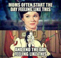 Moms often start the day feeling like this...